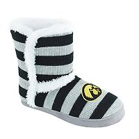 Women's Iowa Hawkeyes Striped Boot Slippers