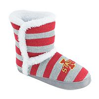 Women's Iowa State Cyclones Striped Boot Slippers