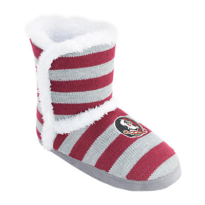 Women's Florida State Seminoles Striped Boot Slippers