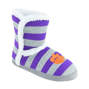 Women's Clemson Tigers Striped Boot Slippers