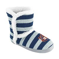 Women's Auburn Tigers Striped Boot Slippers