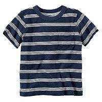 Baby Boy Carter's Short Sleeve Triple-Striped Slubbed Pocket Tee