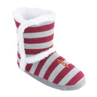 Women's Arizona State Sun Devils Striped Boot Slippers