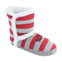 Women's Arkansas Razorbacks Striped Boot Slippers