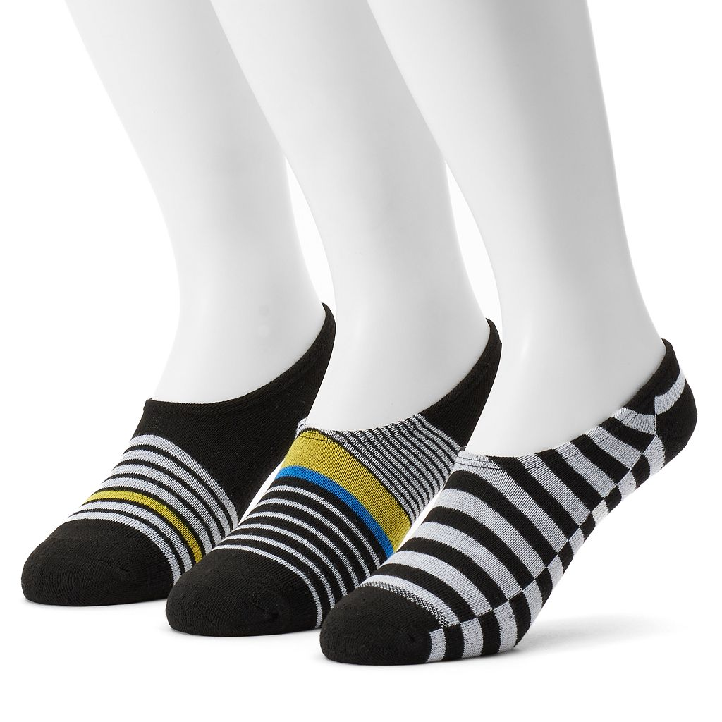Men's Converse 3-pack Made For Chucks Striped Liner Socks