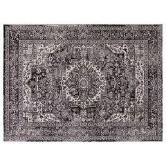Concord Global Kashan Heriz Framed Floral Rug