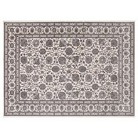 Concord Global Kashan Framed Floral Rug
