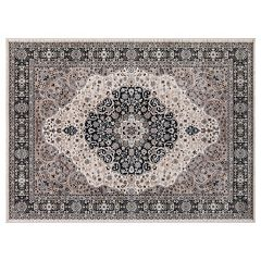 Concord Global Kashan Medallion Framed Floral Rug