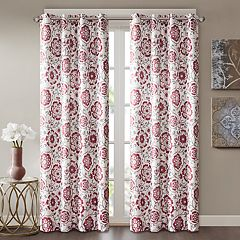 Madison Park 1-Panel Rachel Faux Silk Room Darkening Window Curtain