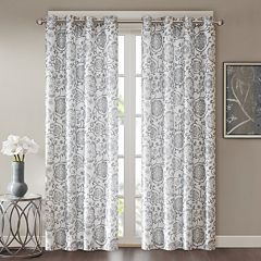 Madison Park Rachel Faux Silk Room Darkening Window Curtain