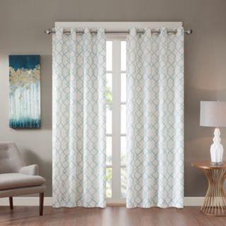 Madison Park 1-Panel Bonwitt Embroidered Window Curtain