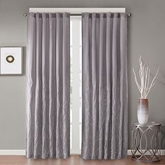 Madison Park 1-Panel Savoy Embroidered Faux Silk Window Curtain