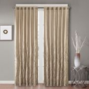 Madison Park Savoy Embroidered Faux Silk Window Curtain