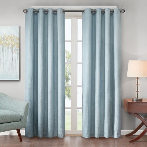 Madison Park Declan Lined Jacquard Energy Saving Window Curtain