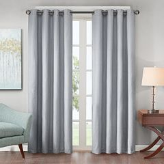Madison Park 1-Panel Declan Lined Jacquard Energy Saving Window Curtain