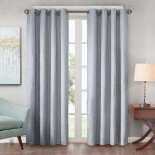 Madison Park 1-Panel Declan Lined Jacquard Energy Saving Window Curtain