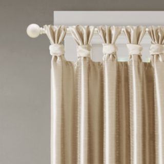 Madison Park 1-Panel Daniele Twisted Tab Faux Silk Window Curtain