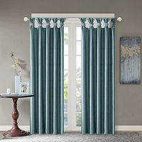 Madison Park Daniele Twisted Tab Faux Silk Window Curtain