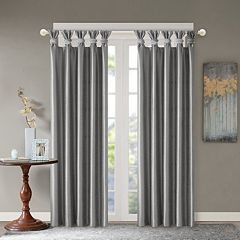 Madison Park Daniele Twisted Tab Faux Silk Window Curtain