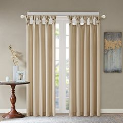 Madison Park 1-Panel Daniele Twisted Tab Faux Silk Window Curtain
