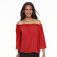 Women's Apt. 9® Off-the-Shoulder Pleated Top