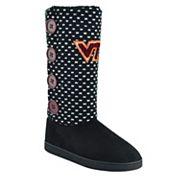 Women's Virginia Tech Hokies Button Boots
