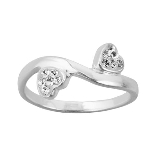 Sterling Silver Double Heart Ring