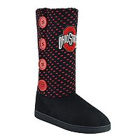 Women's Ohio State Buckeyes Button Boots
