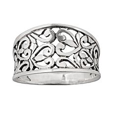 Sterling Silver Filigree Ring :  kohls silver accessories jewelry