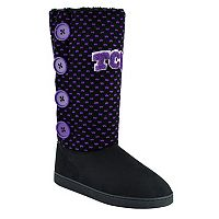 Women's TCU Horned Frogs Button Boots