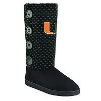 Women's Miami Hurricanes Button Boots