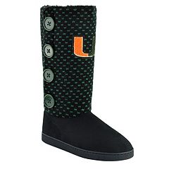 Women's Miami Hurricanes Button Boots