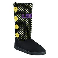 Women's LSU Tigers Button Boots