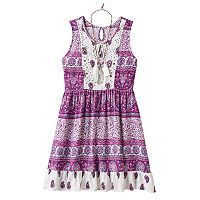 Girls 7-16 Knitworks Lace & Paisley Babydoll Dress