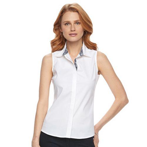 a43bec3b6d0b14 Women s Harve Benard Sleeveless Button-Down Shirt