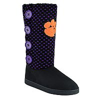 Women's Clemson Tigers Button Boots