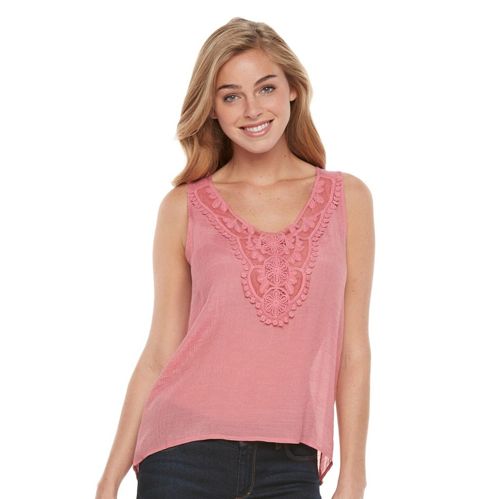 Women's Harve Benard Embroidered High-Low Tank