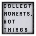 """Belle Maison """"Collect Moments"""" Framed Wall Art"""