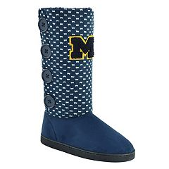 Women's Michigan Wolverines Button Boots