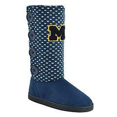 Women's Michigan Wolverines Button Boots