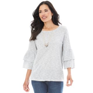 Women's AB Studio Space-Dye Necklace Top