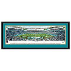 Miami Dolphins Stadium 50-Yard Line Framed Wall Art