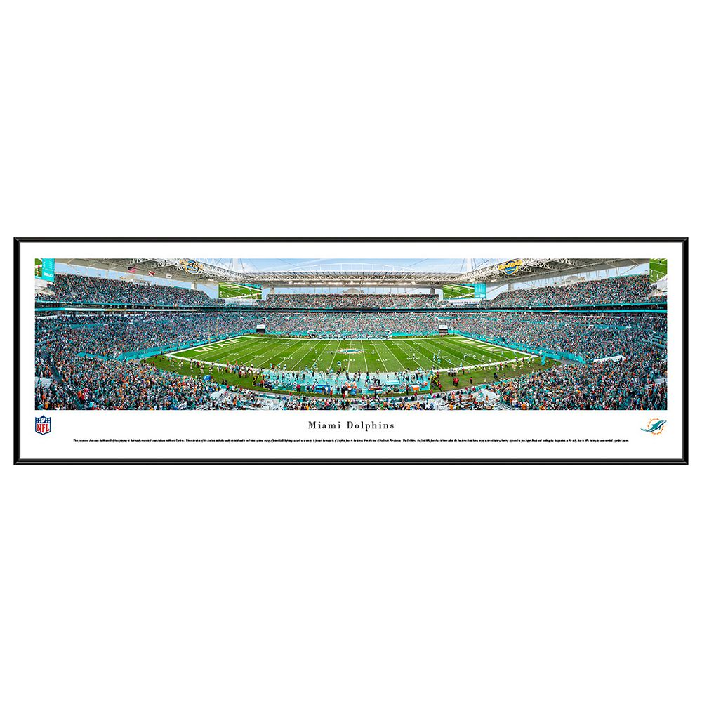 Dolphins stadium 50 yard line framed wall art miami dolphins stadium 50 yard line framed wall art jeuxipadfo Image collections