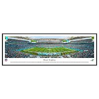 Miami Dolphins Stadium 50-Yard Line Framed Wall Art