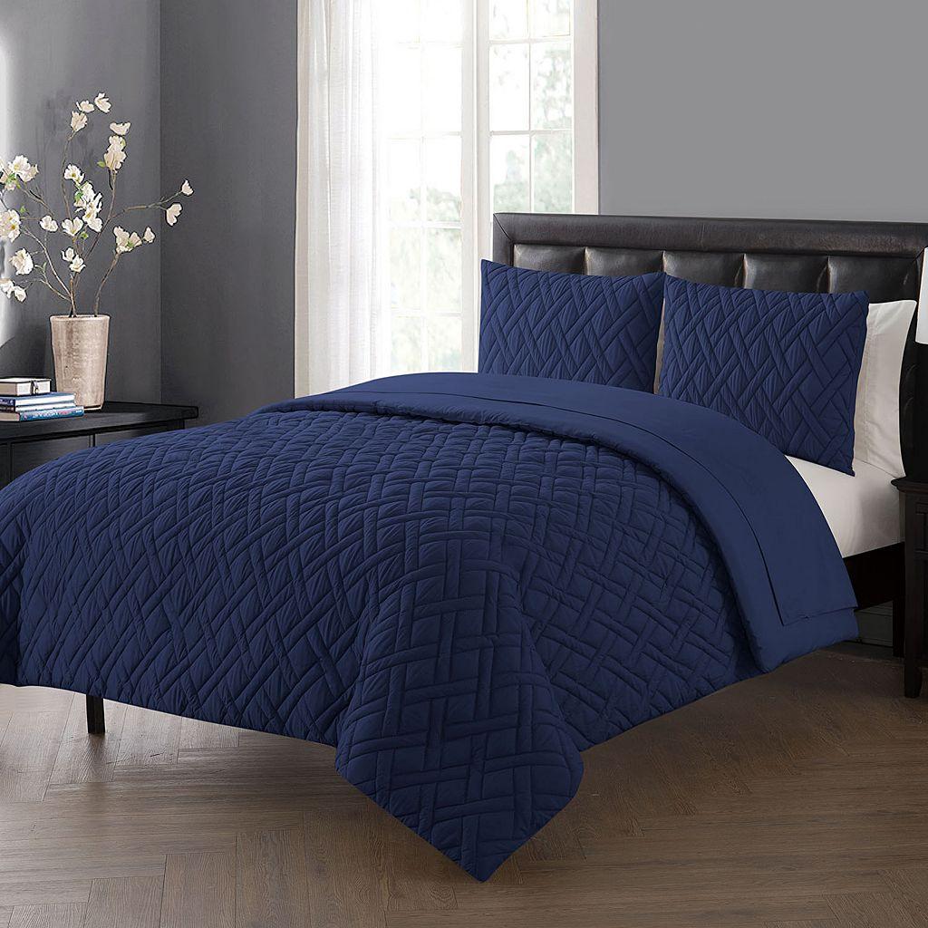 VCNY Lattice Embossed Bedding Set