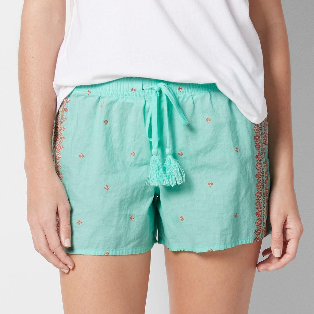 Women's SONOMA Goods for Life™ Print Poplin Shorts