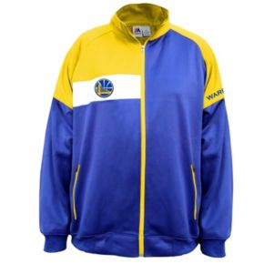 Big & Tall Majestic Golden State Warriors Colorblock Track Jacket