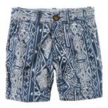 Boys 4-8 Carter's Printed Flat Front Shorts