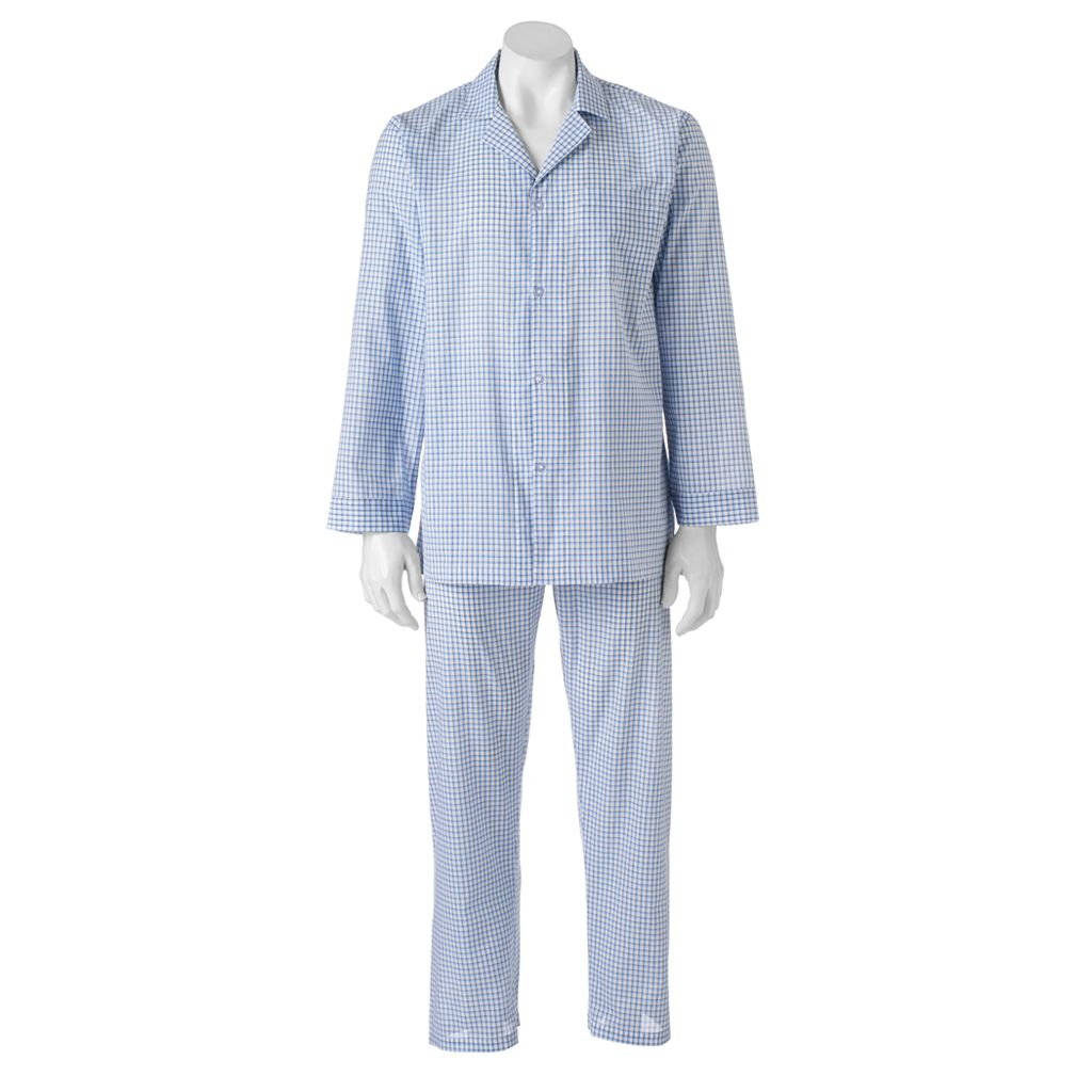 Big & Tall Chaps Patterned Broadcloth Pajama Set