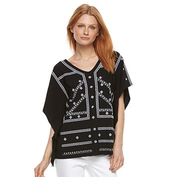 Women's Dana Buchman Embroidered Caftan Top